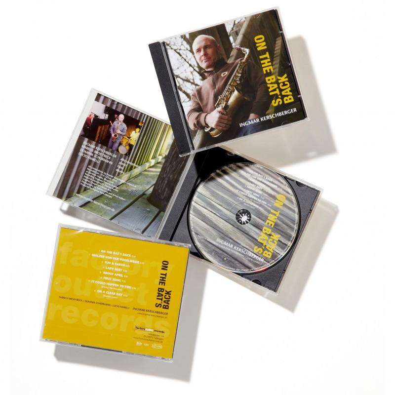 Jazz-CD Bookletgestaltung und Jewel-Case: Design Miriam Awe