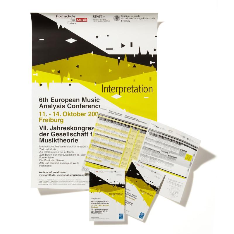 Plakatgestaltung und Programmheft eines Kongresses