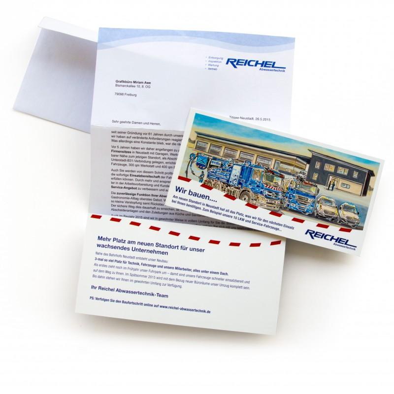 Ansicht eines Mailings im Auftrag von Reichel Abwassertechnik
