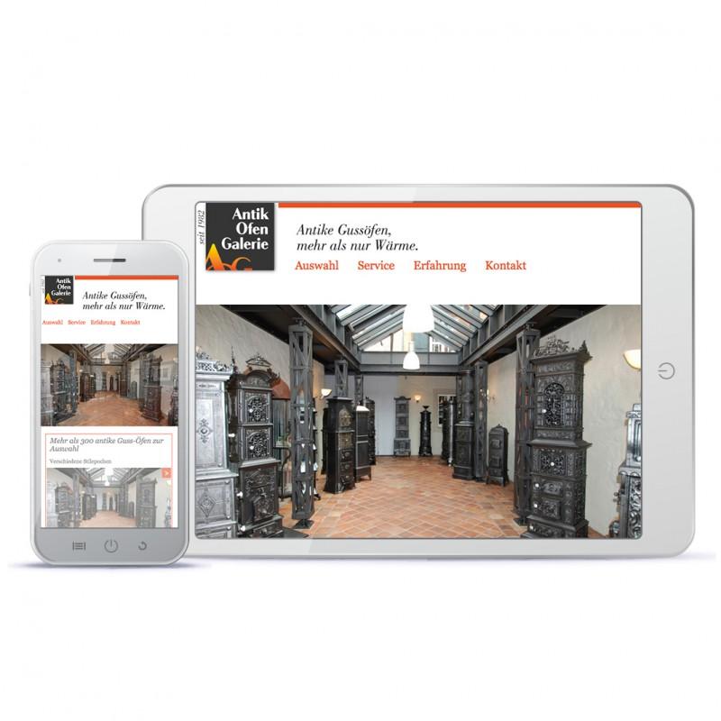 Webdesign Antik Ofen Galerie, Miriam Awe