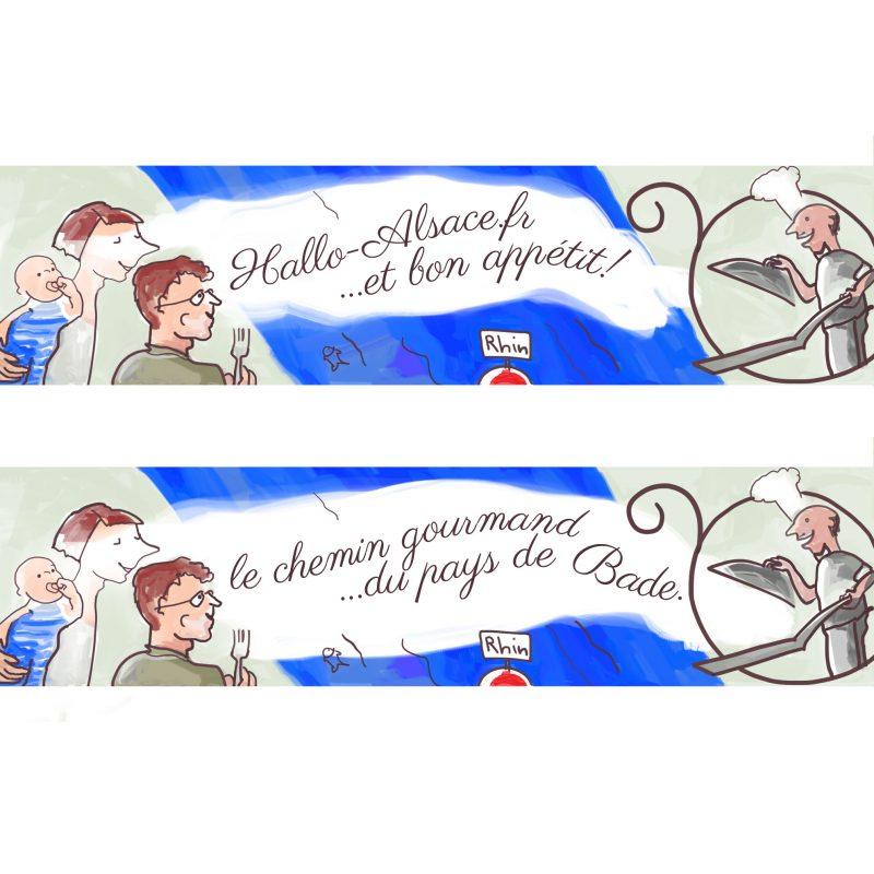 animierter Werbebanner für das GastronomenportalHallo-Alsace.fr