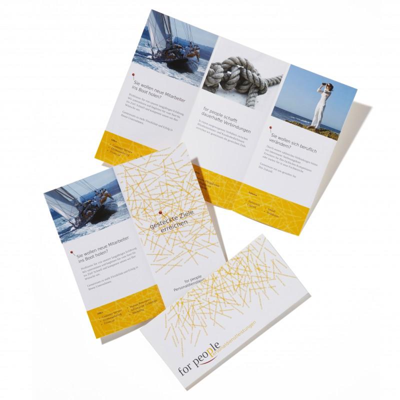 Flyer-Gestaltung für Personaldienstleister