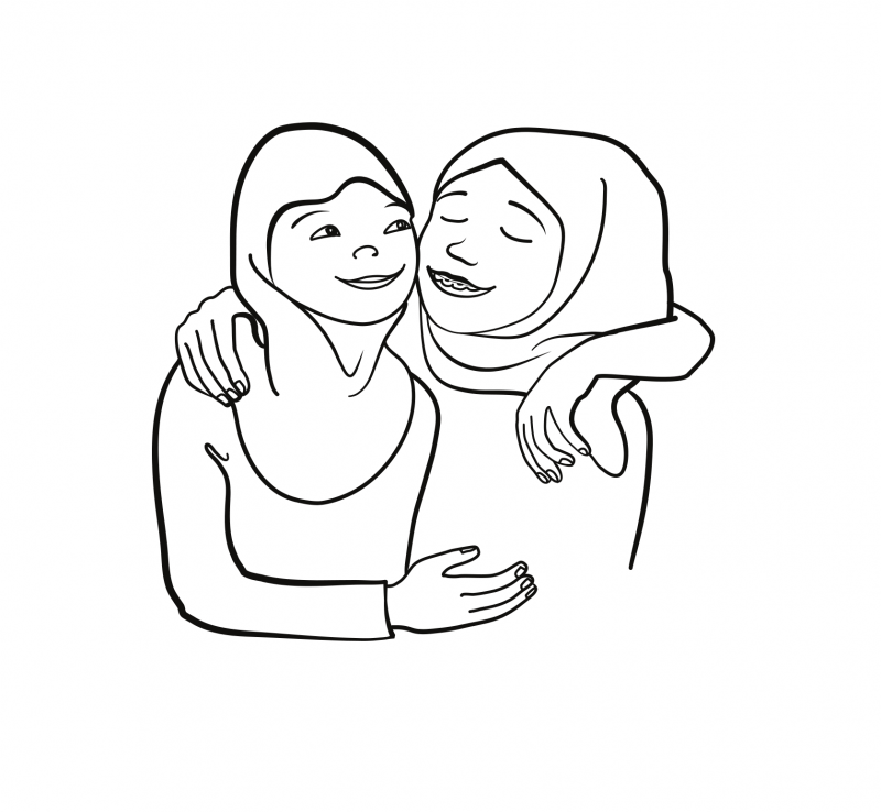 Vektor-Illustration für Religionsunterricht