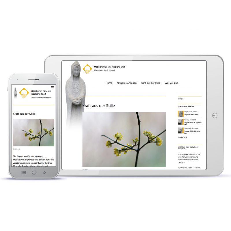 Design eines Webauftritts 2016, Referenzbeispiel