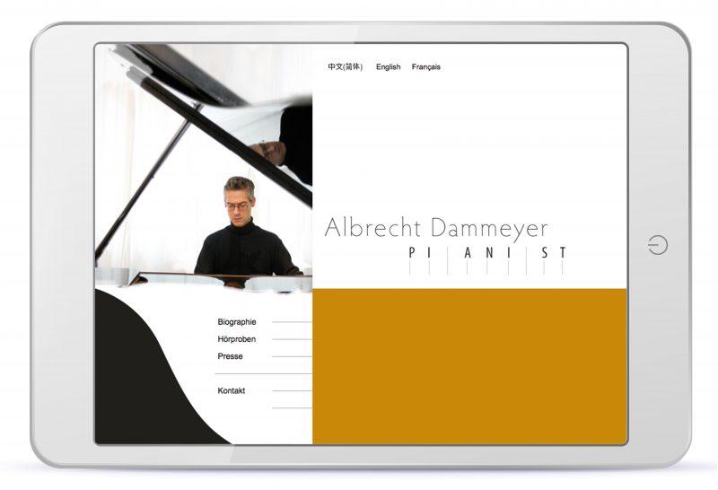 Webdesign des Pianisten Albrecht Dammeyer