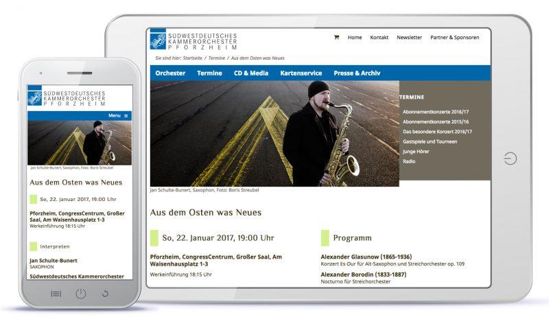 Design Südwestdeutsches Kammerorchester Pforzheim, Konzertdetail
