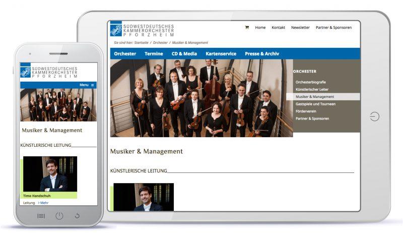 Webdesign Südwestdeutsches Kammerorchester Pforzheim – Musiker