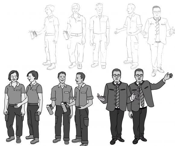 Charakter-Design für Erklärvideo